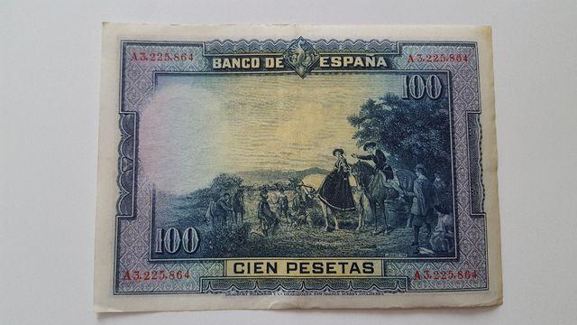 Billete de 100 pesetas de 1928