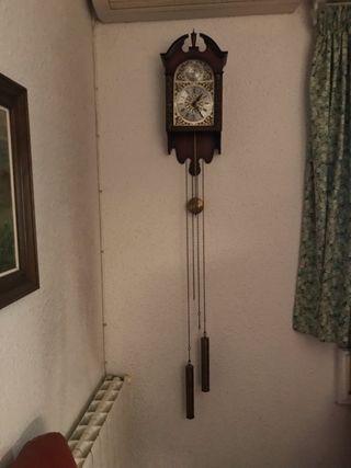 Antiguo Reloj Mecánico Manual A Llave De Pared Con Campanadas Principio 1900 Muebles Antiguos Y Decoración Arte Y Antigüedades