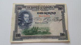 Billetes de 100 pesetas de 1925
