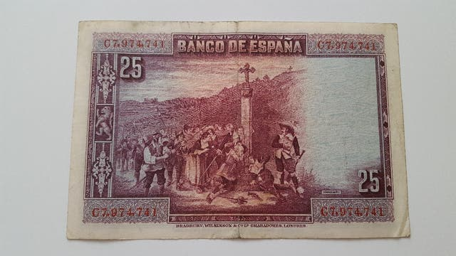 Billete de 25 pesetas de 1928