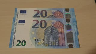Pareja correlativa billetes 20 Euros