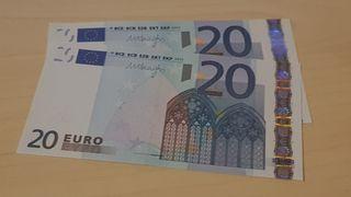 Pareja Billetes Correlativos 20 Euros 1 edición