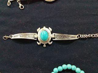 coleccion de pulseras reajustables metal y turques