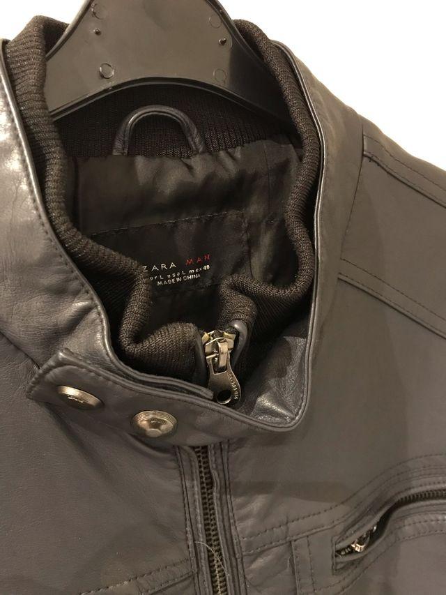 Chaqueta cuero sintético Zara