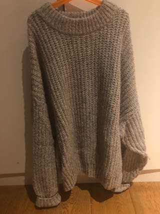 Jersey oversized pull&bear gris