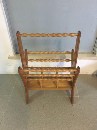 Revistero madera vintage tradicional