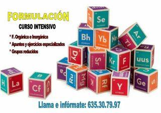 clases de química y formulación