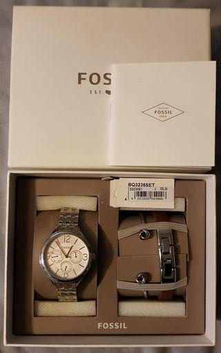 women's new fossil watch gift set