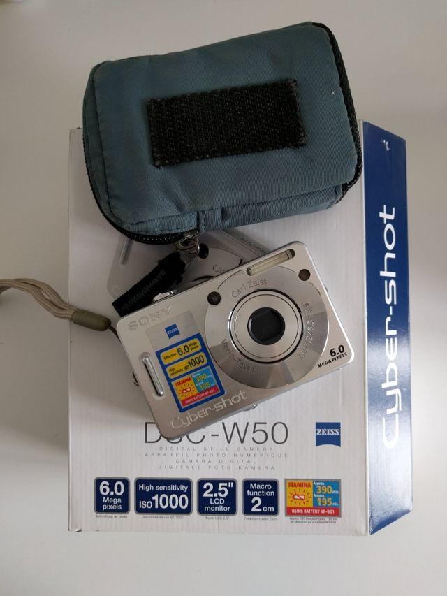 camara fotos digital sony cybershot dsc-w50