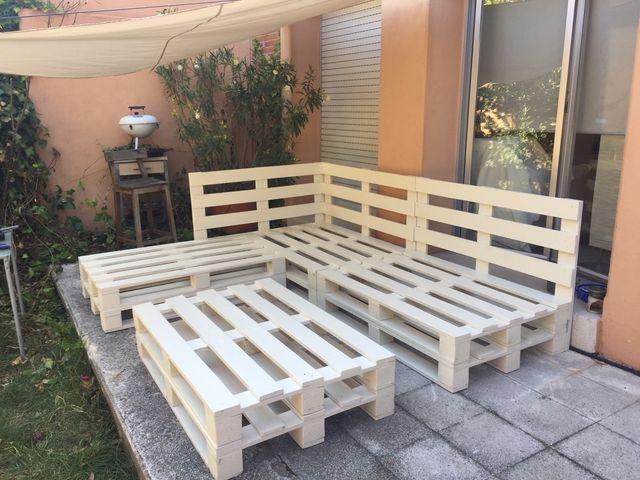Muebles de palets para jard n rebajas de segunda mano por for Muebles de jardin con palet