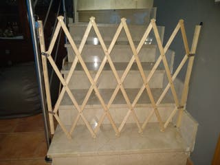 puerta / barrera plegable para escaleras
