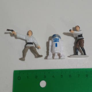 star wars tipo kinder miniatura tombola figuras 90