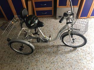 Bicicleta con tres ruedas y marchas
