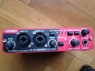 Interfaz de audio Edirol FA-66