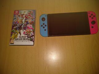 Nintendo Switch + Super Smash Bros + Funda