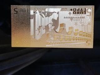 Billete oro placa do 99,9%