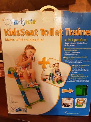 Asiento de baño para niños 3 en 1 Kidskit