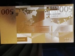 Billete de oro placado