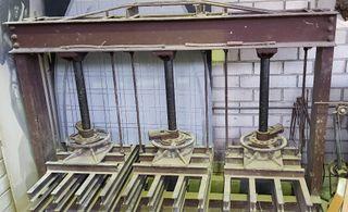 Prensa triple encuadernacion madera puertas