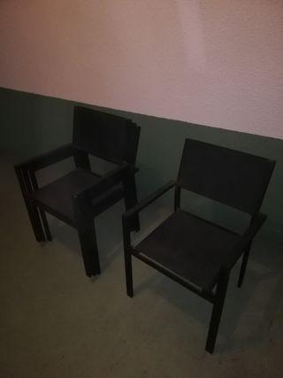 sillas de terraza aluminio.