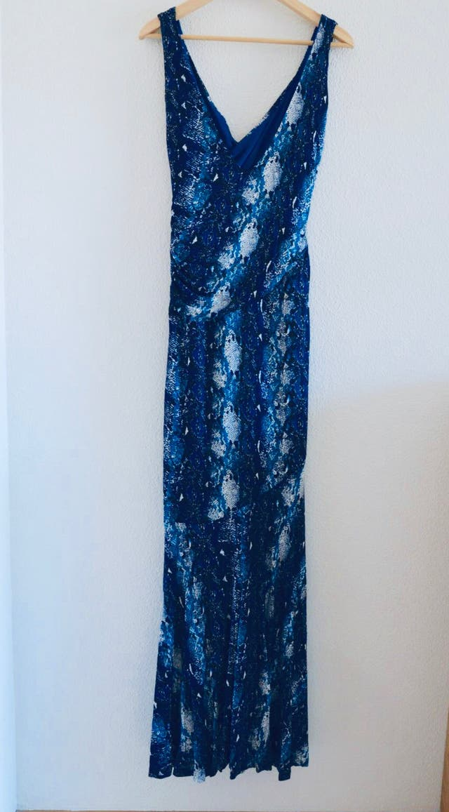 89ce665bc4 Vestido largo animal print azul de Mango (nuevo) de segunda mano por ...