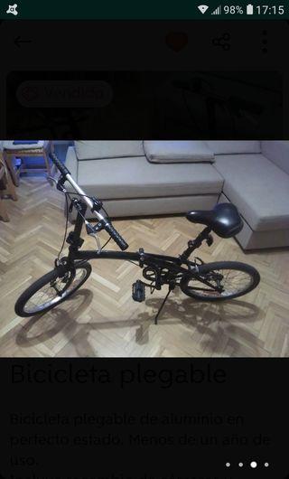 Bicicleta Plegable(Ya Rebajada).