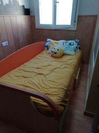 cama con cajonera
