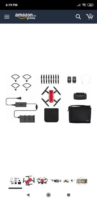 drone spark con un montón de accesorios extras