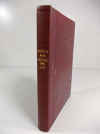 Antiguo libro de Historia de la Cultura y del Arte