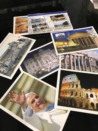 Colección de postales Roma y París