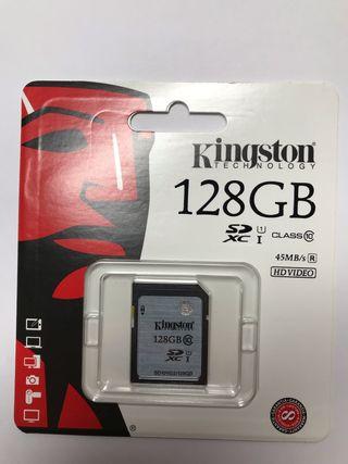 Tarjeta memoria Kingston 128 GB + ENVÍO GRATIS