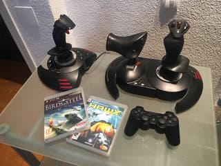 PS3 pack Flight Stick HOTAS Sixaxis Juegos