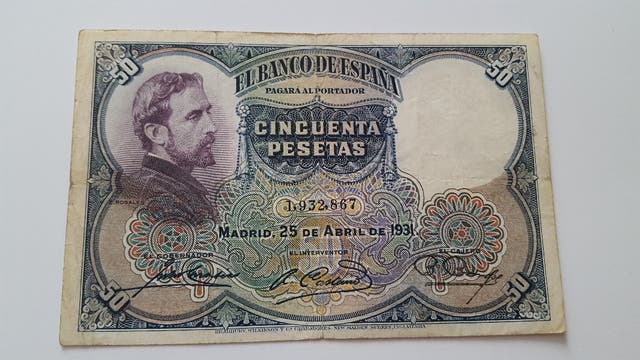 Billete de 50 pesetas de 1931