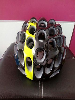 casco catlike whisper negro-amarillo L