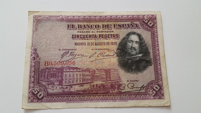Billete de 50 pesetas de 1928