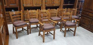 Sillas macizas ovalizadas con asiento memo