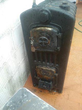 caldera de leña y carbon para calefacion