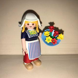 Playmobil Chica de Holanda Tulipanes
