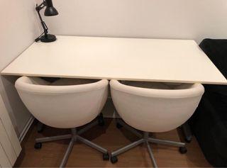Conjunto mesa y sillas regulables