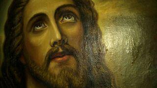 Óleo antiguo Corazón de Jesús