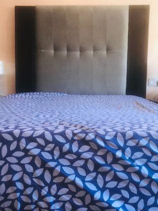 Canapé, colchón, cabecero 1'35m.