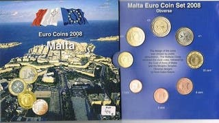 MALTA 2008 CARTERA S/C 8 VALORES MAS DOS SELLOS