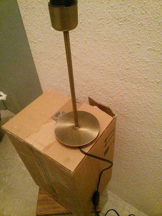 pie de lampara en cobre 30 cm alto