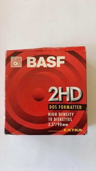Diskettes BASF -7 unidades nuevas con la caja orig