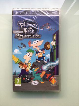 Psp Phineas y Ferb a través de la 2a dimension