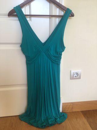 Vestido verde talla S Zara
