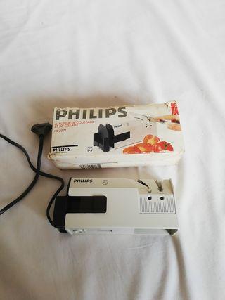 Afilador cuchillos y tijeras eléctrico Philips