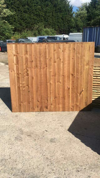 Brown Feather edge fence panels