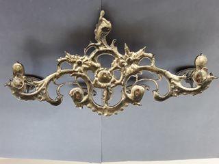 Antiguo perchero de bronce