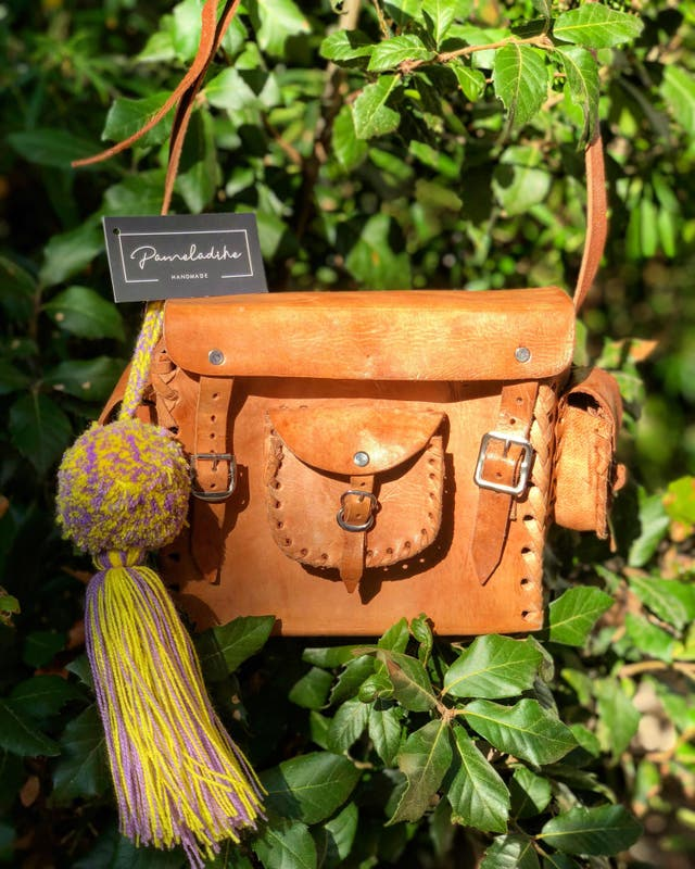 Bolsa de cuero artesanal Mexicana ACCESORIO GRATIS
